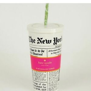 Kate Spade New York Times Reusable Tumbler Cup.